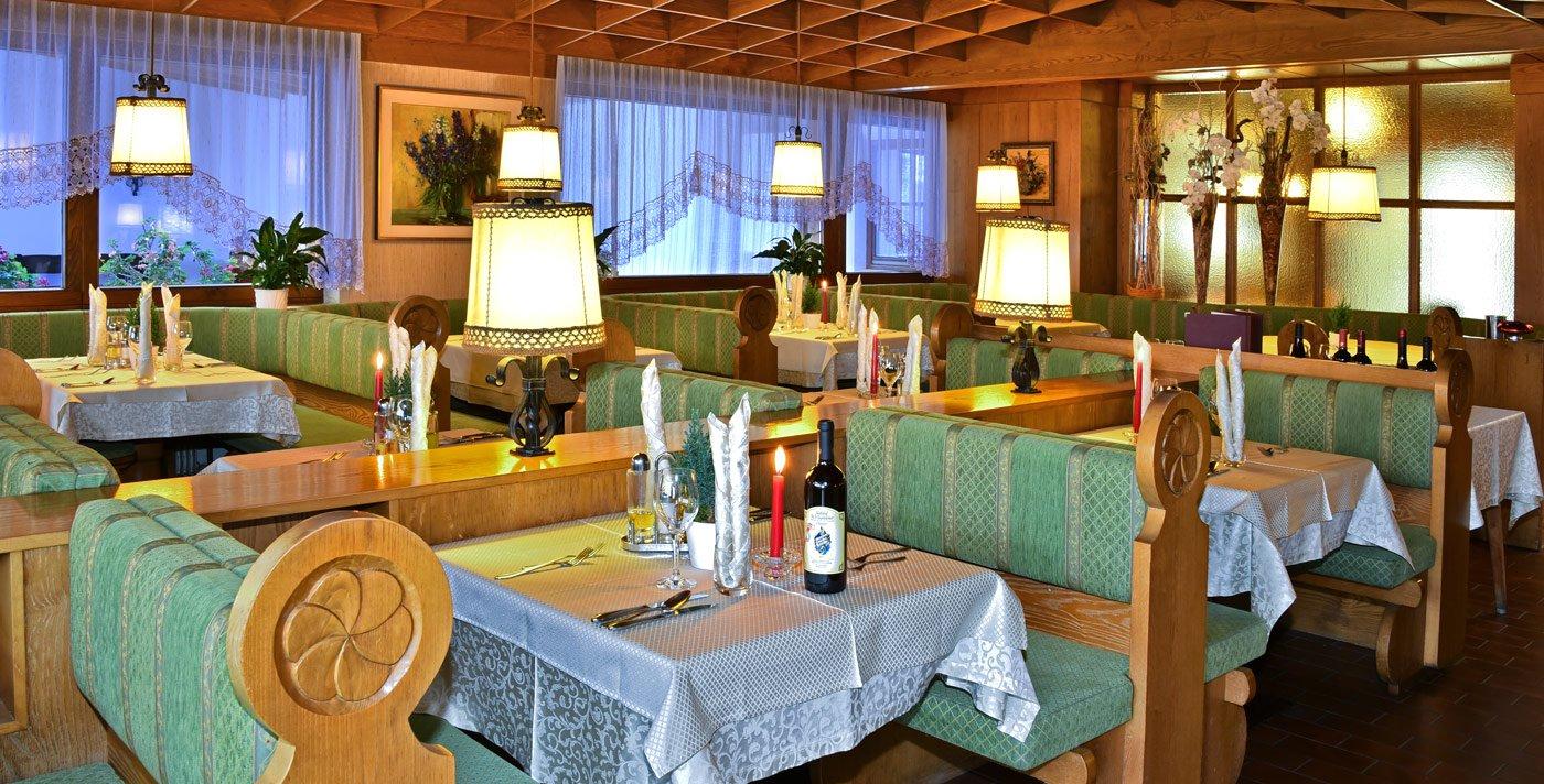 L'hotel benessere con menù serale a scelta e a più portate