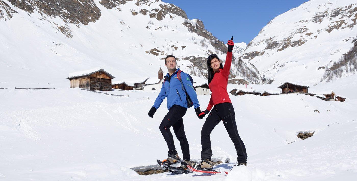 Ausgedehntes Winterwandern am Gitschberg